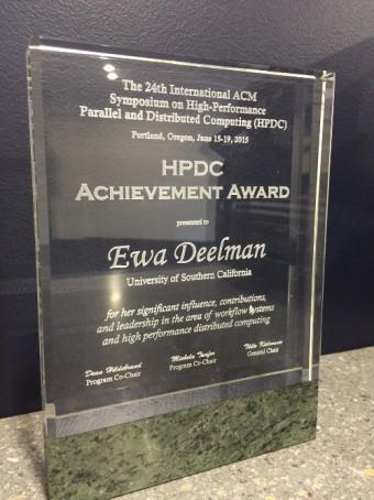 HPDC Achievement Award 2015: Ewa Deelman