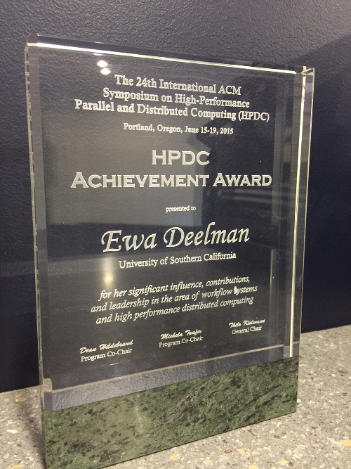 HPDC Achievement Award 2015: Ewa Deelman