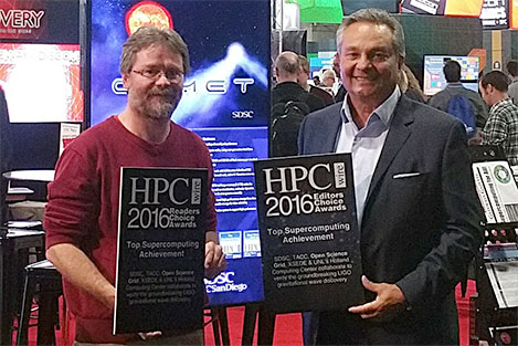 Pegasus' contributions to LIGO highlighted in OSG's HPCwire awards